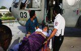 انتقال بیمار قلبی از طریق بال گرد اورژانس هوایی به بندرعباس