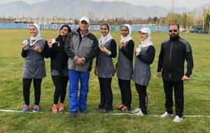 جام نایب قهرمانی لیگ برتر تیراندازی با کمان در دستان دختران کیش