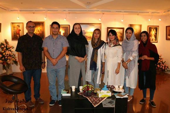 گزارش تصویری از نمایشگاه آثار نقاشی رئال و کلاسیک بهاره قیدی و شهرزاد شجری