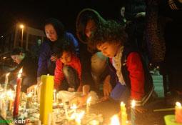 مراسم بزرگداشت شهادت آتشنشانان حادثه پلاسکو در جزیره کیش (+تصاویر)