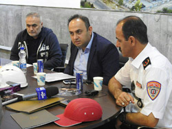 بازدید رئیس آتش نشانی کیش از پروژه تجاری تفریحی میکامال