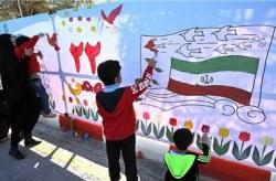 برگزاری سومین نقاشی بزرگ خیابانی در کیش