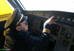 تصاویر / رویای خلبانی یک کودک معلول
