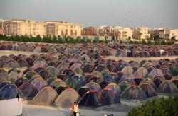 اسکان ۶۱ هزار و ۱۵۳ گردشگر در کمپ های مسافری کیش