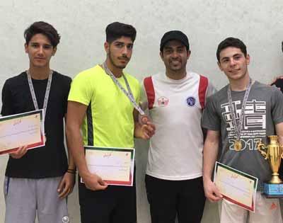 اسکواش بازان جوان جزیره کیش مدالهای طلای مسابقات قهرمانی کشور را درو کردند