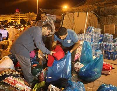 اولین محموله کمکهای مردمی جزیره کیش به مناطق زلزله زده ارسال شد + تصاویر