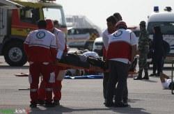 اجرای مانور مشترک طرح اضطراری آتش نشانی نجات و امداد در فرودگاه کیش + تصاویر