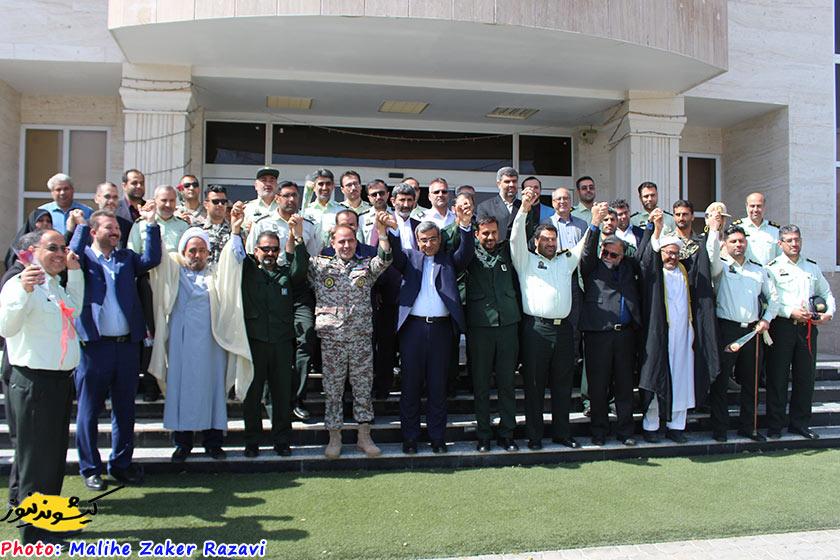 عکس | زنجیره حمایتی مسئولان کیش از سپاه پاسداران