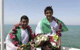 شنای ۱۸ کیلومتری شناگران کیش در روز خلیج فارس