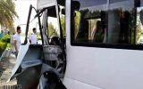 سانحه رانندگی سرویس دانش آموزان به خاطر خواب آلودگی راننده مینی بوس