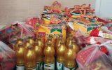 توزیع ۷۰ سبد غذایی بین مددجویان جزیره