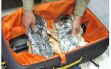 ۴ کیلو مواد مخدر جاساز در چمدان به مقصد نرسید