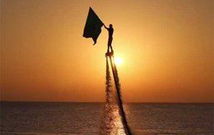 فیلم | اهتزاز پرچم اباعبدالله الحسین(ع) بر فراز خلیج فارس