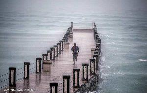 عکس | باران پاییزی و هوای بهاری کیش