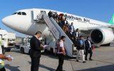 پرواز سلیمانیه در فرودگاه بین المللی کیش برای نخستین بار بر زمین نشست