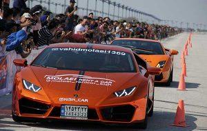 گزارش تصویری | مسابقات اتومبیلرانی «شتاب کیش»
