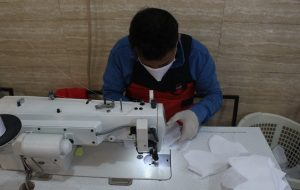 تولید ۱۰ هزار ماسک در جزیره کیش برای مبارزه با کرونا