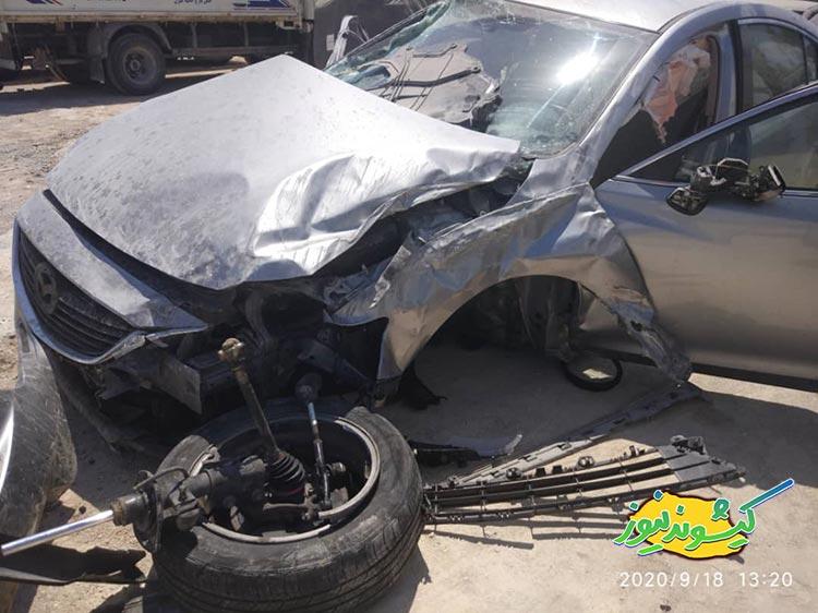 جشن تولدی که عزا شد/ مرگ دختر ۱۸ ساله در حادثه تصادف مزدا۶ + عکس